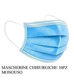MASCHERINE CHIRURGICHE 10PZ MONOUSO