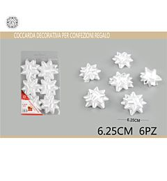 COCCARDA 6.25CM 6PZ BIANCOGev