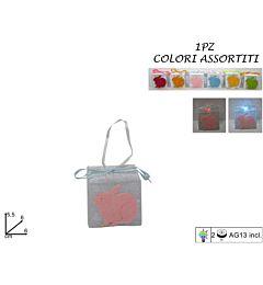 APPENDINO PACCO DONO PVC C/LUCE CONIGLIO 6COL ART.Due Esse