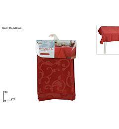 TOVAGLIA ROSSA JACQUARD 150*240CM ART.10013 (F.2.2Due Esse