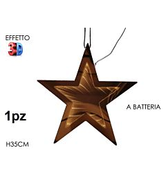 APP. STELLA 3D B/O LUCE H35CMHappy Casa