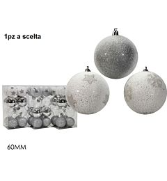 SET 16 PALLE 60MM SILVER 3ASS.Happy Casa