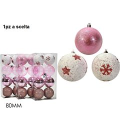 SET 8 PALLE 80MM ROSA 3ASS.Happy Casa