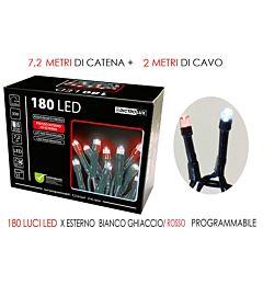 180 LUCI LED GHIACCIO/ROSSO X EST. PROG.Happy Casa