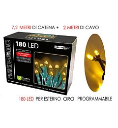 180 LUCI LED ORO X EST. PROGRAMMABILIHappy Casa