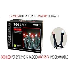 300 LUCI LED GHIAC/ROSSO X EST.  PRHappy Casa