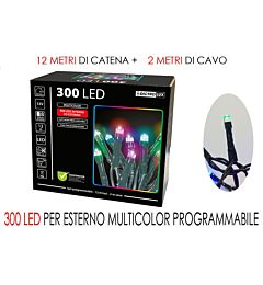 300 LUCI LED MULTIC X ESTERNO  PROG.Happy Casa