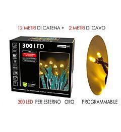 300 LUCI LED ORO X EST. PROGRAMMABILIHappy Casa