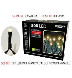 500 LUCI LED BIANCO CALDO  X EST. PROGRHappy Casa
