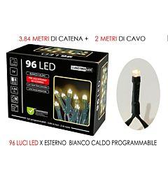 96 LUCI LED BIANCO CALDO X ESTERNO  PROGHappy Casa