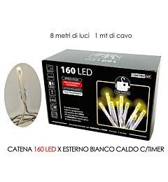 CATENA 160 LED X EST.BIANCO C. B/O C/TIMHappy Casa