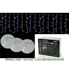 TENDA 2MT C/80 LED MULTICOLOR LX0.5 MT HHappy Casa