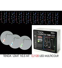 TENDA 3MT C/120 LED MULTICOLR LX0.5 MT HHappy Casa