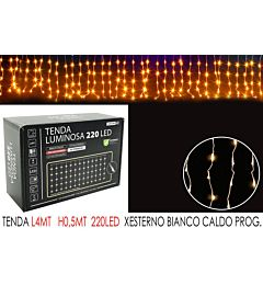 TENDA 4MT C/220LED BIANCO C LX0.5MT H PHappy Casa