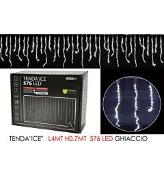 TENDA ICE  C/576LED GHIAC. 4MT LX0.7MT HHappy Casa