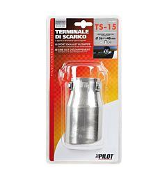 TERMINALE TS-15 ACCIAO INOX   DIAM.36-48MMLampa