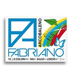 ALBUM FABRIANO ARCOBALENO 24X33 FG. 10 GR. 140