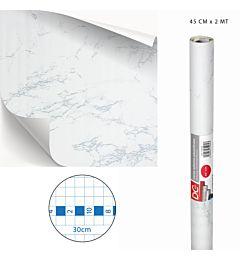 DC CASA CARTA ADES.PVC MARMO 45CMX2MX0,08MM 5265-1Dc