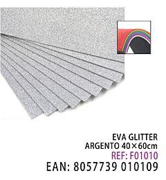 EVA GLITTER ARGENTO 40*60CMHQ