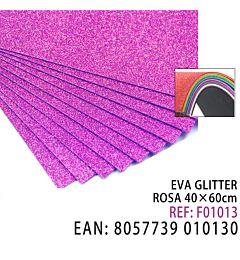 EVA GLITTER ROSA 40 X 60CMHQ
