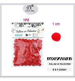 PALLINE IN POLIESTERE ROSSE 1CM/100PCParty Go