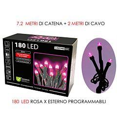 180 LUCI LED ROSA X EST. PROGRAMMABILIVesti Casa