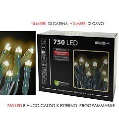 750 LUCI LED BIANCO CALDO X EST. PROGR.Vesti Casa