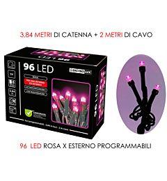 96 LUCI LED ROSA X ESTERNO  PROGVesti Casa