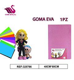 GOMMA CREPLA GLITTER ROSA 40*60Party Go