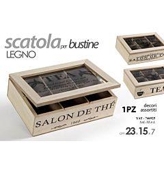 YAT/SCATOLA TEA LEGNO 23*15*7 SAL-TEA-LGicos
