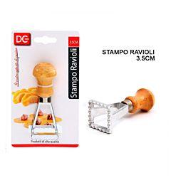 STAMPO RAVIOLI M/LEGNO QUADRATO 3.5CMDc