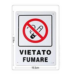 CARTELLO  VIETATO FUMARE 16,5X22,5CM