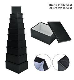 PRYMA SCATOLA 10PZ 19X13X7.5-37X29X16,5CM NERODc