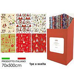 ROTOLO CARTA REGALO 70X500 6 ASSHappy Casa