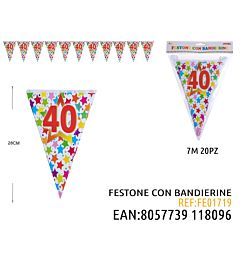 FESTONE A BANDIERINE 40 7MDz