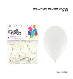 MR.PARTY PALLONCINO MEDIUM 18PZ BIANCODc