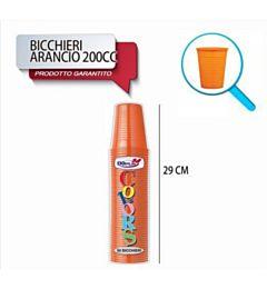 BICCH 200ML R 50PZ ARANCIO DODopla