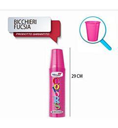 BICCH 200ML R 50PZ FUCSIA DODopla