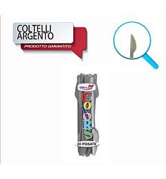 COLTELLI COMPACT 20PZ ARGENTO DODopla