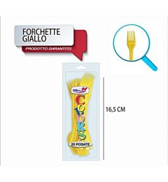 FORCHETTE COMPACT 20PZ GIALLO DODopla