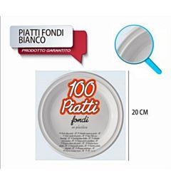 PIATTI FONDI STD D205 100PZ BIANCO MGDopla