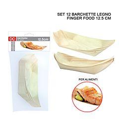 DC CASA BARCHETTA LEGNO FINGER FOOD 12.5CM 12PZDc