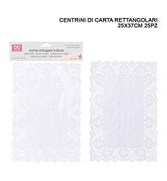 DC CASA CENTRINO CARTA RETT. 25X37CM 25PZ BIANCODc