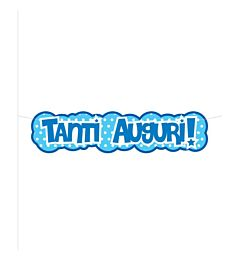 BANNER TANTI AUGURI AZZURO 1 MTSweeping Party