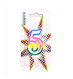 CANDELINA MULTICOLORE HAPPY BIRTHDAY N.5Sweeping Party