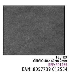 FELTRO GRIGIO 40*60CM*2MMDz
