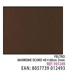 FELTRO MARRONE SCURO  40 X 60CM X 2MMDz