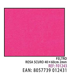 FELTRO ROSA SCURO 40*60CM*2MM
