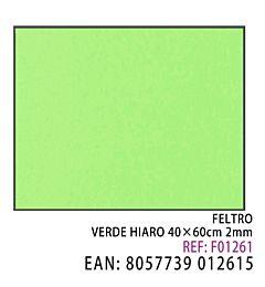 FELTRO VERDE PASTELLO  40 X 60CM X 2MM
