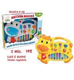 GOGO - PIANOLA MUSICALE MUCCA 2 ASS